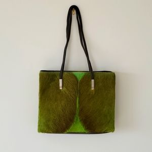 FSP African Custom Green Cowhide Purse